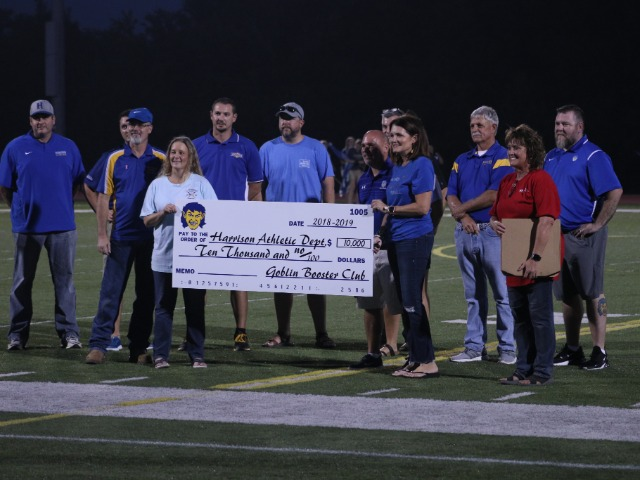 Booster Cub donates $10,000 to the Harrison Athletic Dept.