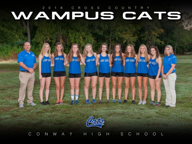 2018 Lady Cat Cross Country Team