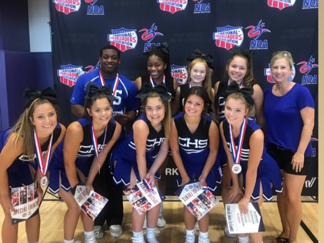 9 All American Cheerleaders at Camp