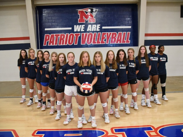 2021 Marion volleyball team