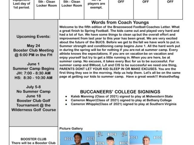Coaches Letter