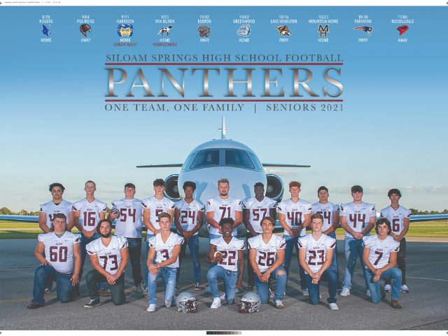 2020-21 Panther Football Seniors - One Team, One Family