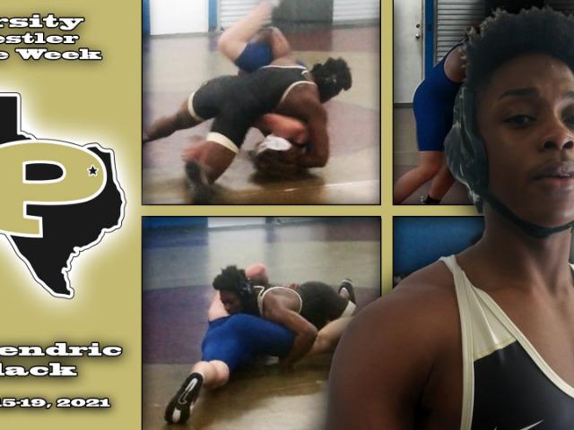 Lakendric Black - Varsity Wrestler of the week 3/15-3/19, 2021.