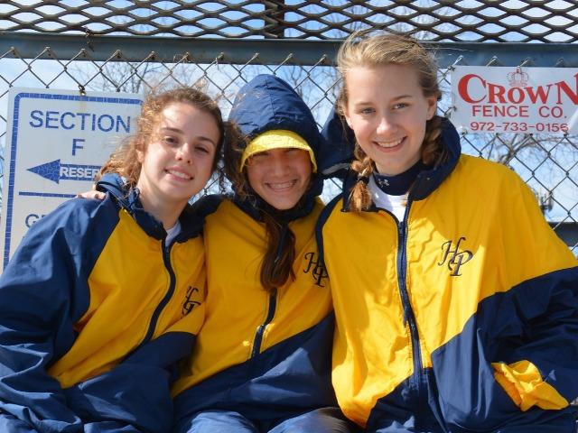 2019 McKinney Boyd Relays - Sophomore Cameron Fawcett, Freshman Alli Grace Ott, and Sophomore Elle Thompson