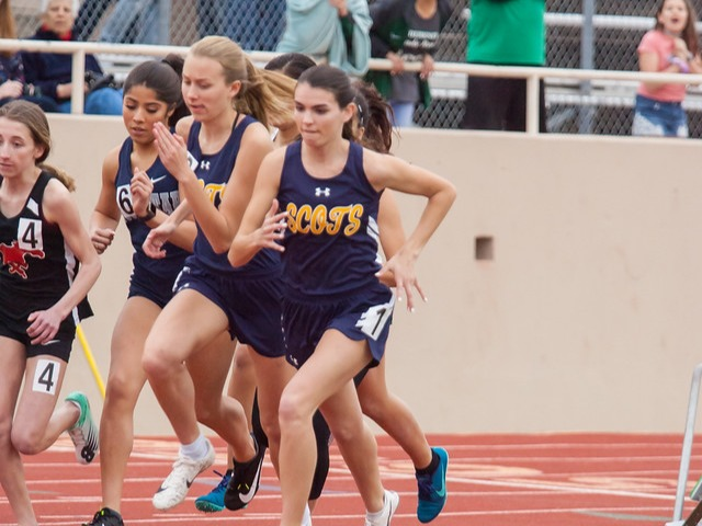 2019 Richardson Invitational - Senior Captain Maddy Stephens and Sophomore Elle Thompson - 800 M Run