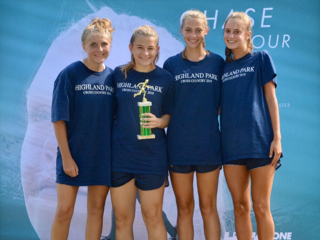 2019 Greenhill Relays - Sophomore Avery Turner, Senior Emily Hea, Junior Allison Brown, and Freshman Kennedy Foy