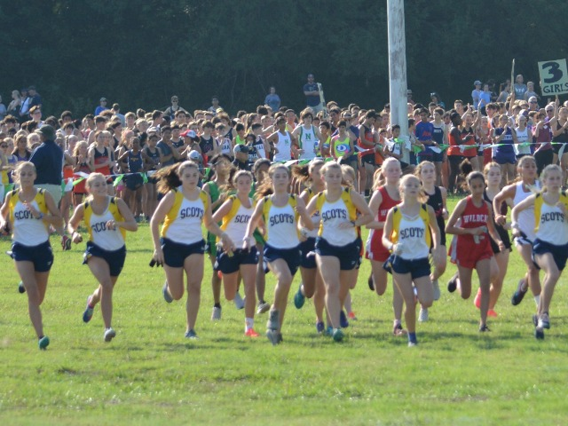 2018 Greenhill Relays - Start of JV Race