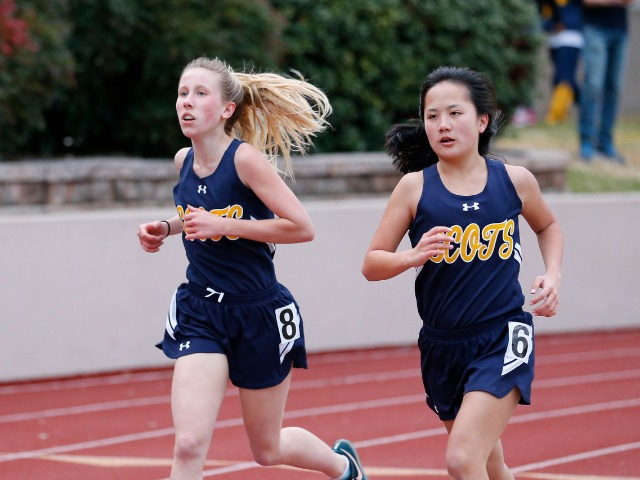 2019 Tracy Wills Invitational - Freshman Lily Baumgartner and Sophomore Hollis Vaughan - 3200 M Run
