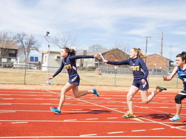 2019 McKinney Boyd Relays - Freshman Hadley Bornemann and Sophomore Kathryn Dunnill - JV 4 x 100 M Relay