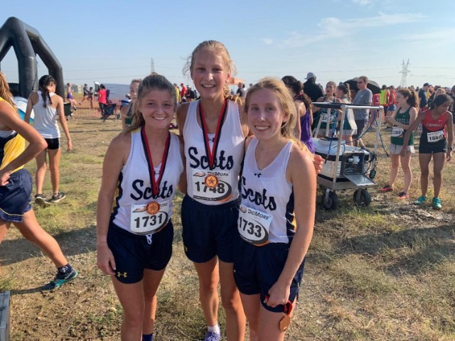 2019 Coppell Invitational - Junior Adelaide Aiken, Freshman Chloe Haag, and Sophomore Lily Baumgartner