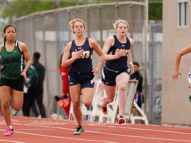 2019 Mesquite ISD Invitational - Senior Taylor Clark and Junior Sara Carlisle - 100 M Dash