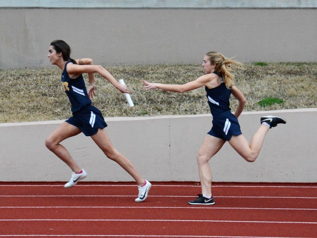 2019 Dual Meet - Junior Ashley Nelson and Freshman Scarlett Randall - 4 x 100 M Relay