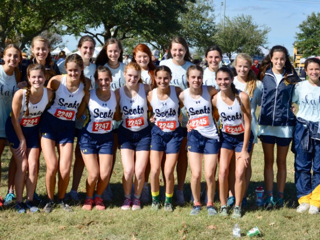 2018 UIL Class 5A State Meet - Lady Scots Cross Country Team - 4th Place