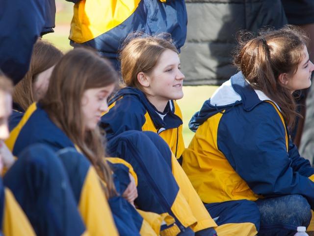 2019 McKinney Boyd Relays - Juniors Kate Allen, Olivia Whann, and Caroline Lett