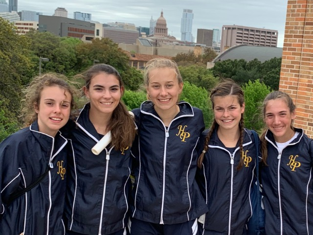 2019 Texas Relays - 4 x 800 M Relay - Sophomore Cameron Fawcett, Senior Captain Maddy Stephens, Sophomores Elle Thompson and Izzy Blaylock, and Freshman Alli Grace Ott
