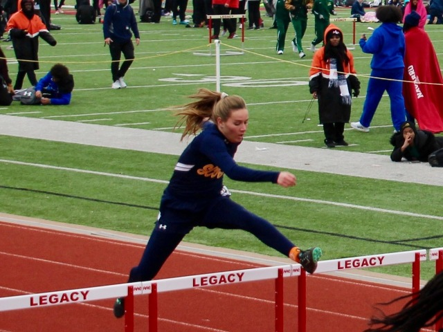 2019 Legacy Bronco Relays - Sophomore Kathryn Dunnill - 300 M Hurdles