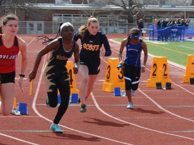 2019 McKinney Boyd Relays - Sophomore Kathryn Dunnill - 1st Leg - JV 4 x 100 M Relay