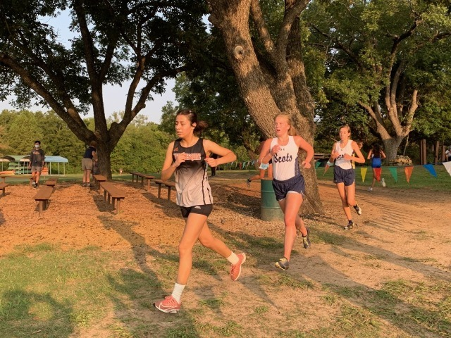 2020 Mesquite ISD JV Meet 1 - Isabella Reynolds and Allison Cannon