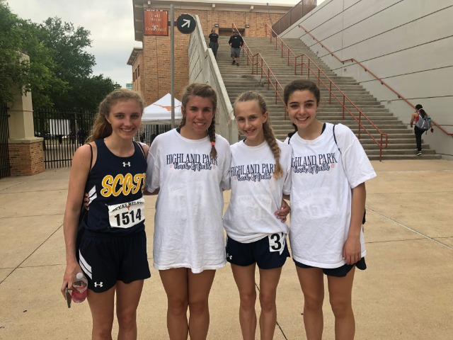 2019 Texas Relays - 4 x 100 M Relay - Sophomore Emma Means, Junior Erin Harper, Sophomore Meredith Sims, and Freshman Abigail Schott