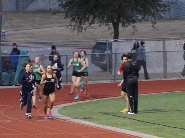 2019 Legacy Bronco Relays - Sophomores Sophia Oliai, Cameron Fawcett, and Izzy Blaylock - 1600 M Run