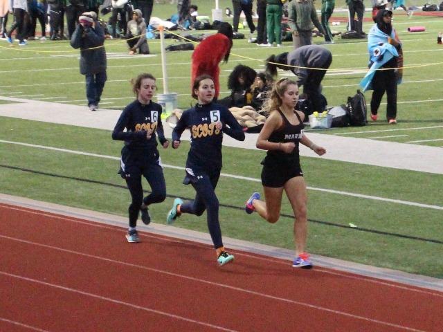 2019 Legacy Bronco Relays - Sophomores Sophia Oliai and Cameron Fawcett - 1600 M Run