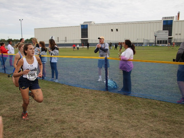 2018 Region II-5A Meet - Freshman Alli Grace Ott finishing the race.
