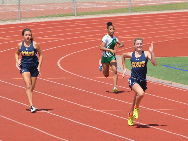 2019 District 11-5A Meet - Freshman Kate Rossley and Sophomore Anna Gregory - 200 M Dash