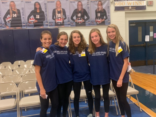 2019 Marcus I - Runners of the Week - Junior Sophia Oliai, Sophomore Alli Grace Ott, Junior Cameron Fawcett, and Freshmen Charlotte Hudson and Grace Hathaway