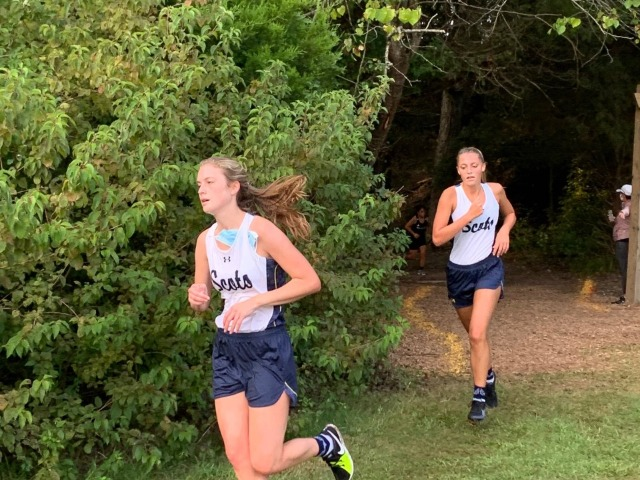 2020 Mesquite ISD JV Meet 1 - Olivia Cormier and Allison Brown