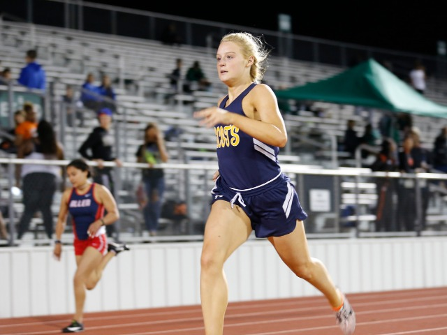 2019 Mesquite ISD Invitational - Senior Captain Claire Kozmetsky - 200 M Dash