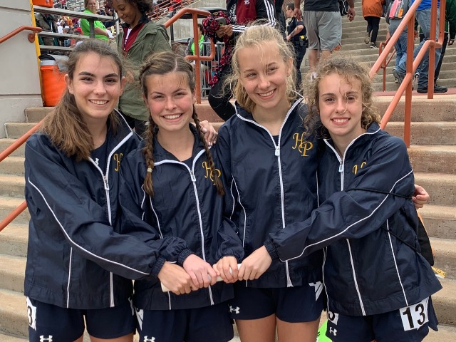 2019 Texas Relays - 4 x 800 M Relay - Senior Captain Maddy Stephens, Sophomores Izzy Blaylock, Elle Thompson, and Cameron Fawcett