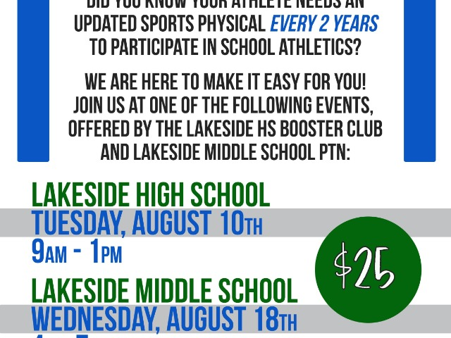 Booster Club Sports Physicals