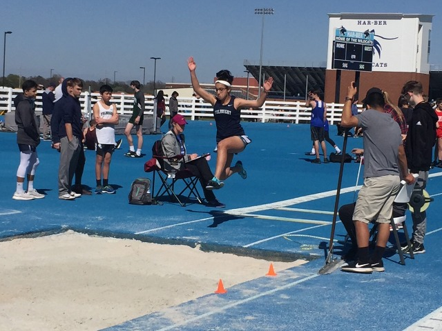 Tova in long jump