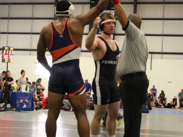 Travian Cooke records the first BLC match is school history with a 19-3 Technical Fall at VB Nationals Open 2018