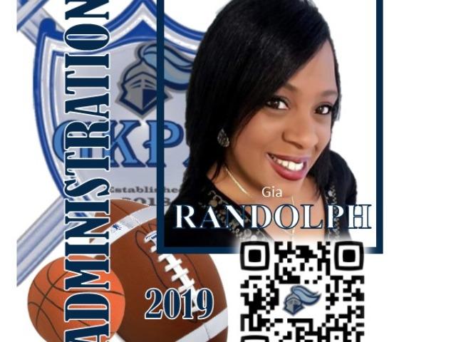 staff photo of Gia Randolph